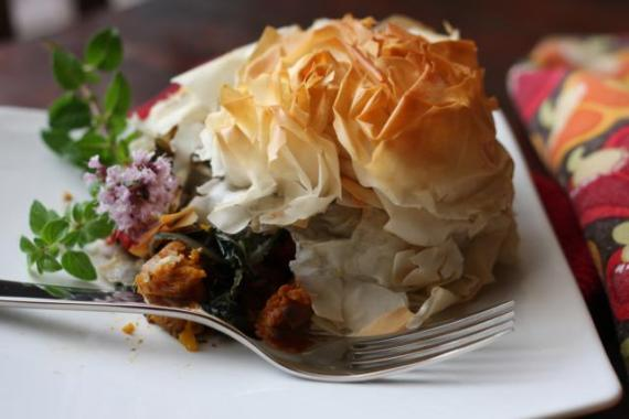 Roasted Vegetables under Phyllo Pastry