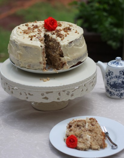 Hummingbird Cake with Goat's and Cream Cheese Frosting