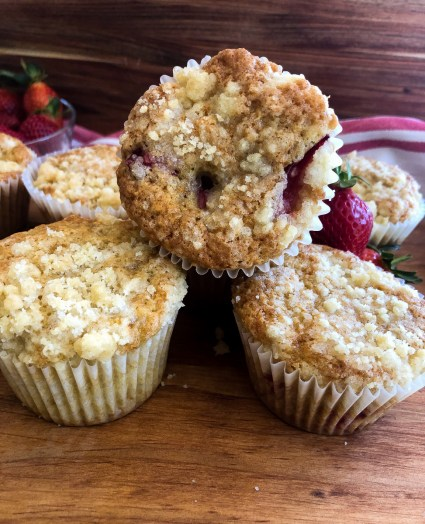 Sourdough  discard strawberry muffins